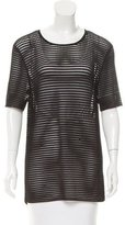 Torn By Ronny Kobo Short Sleeve Perforated Top w/ Tags