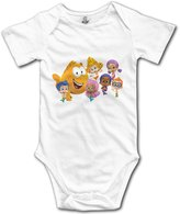 Kra8er Bubble Guppies Cartoon Unisex Boys Girls Baby Bodysuit Onesies 100% Cotton