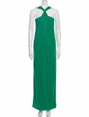 Lanvin Halterneck Long Dress Green