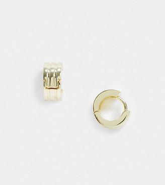 Shashi Corrinne triple huggie earrings in gold plate