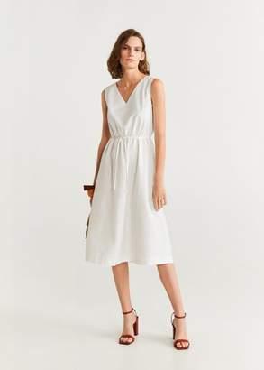 MANGO Lace cotton dress off white - 6 - Women