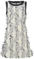 Karl Lagerfeld Women's Fringed Jacquard Dress White