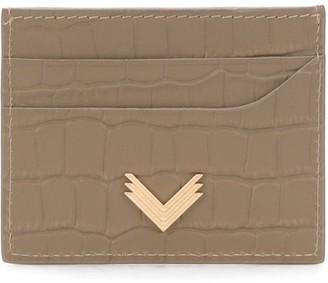 Manokhi x Velante crocodile embossed cardholder