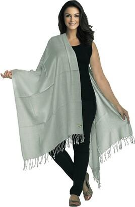 World of Shawls Luxurious Kashmiri 80% Wool 20% Silk Pashmina Shawl Wrap Scarf (Peacock Green)