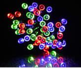 Red, Green & Blue LED Solar Fairy Lights Length / No. Lights: 10m / 100 Lights