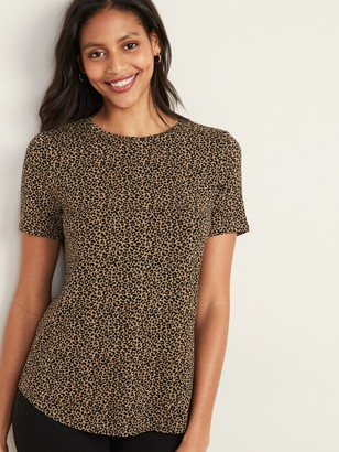 Old Navy Luxe Printed Crew-Neck Tee for Women