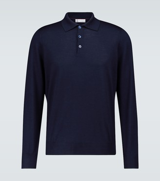 Brunello Cucinelli Wool and cashmere polo shirt