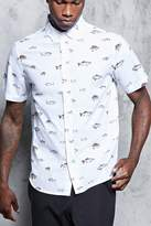 21men 21 MEN Fish Print Shirt