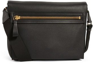 Tom Ford Grained Leather Buckley Messenger Bag