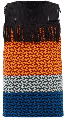 Namacheko Suuyka Fringed Cotton-blend Vest - Orange Multi
