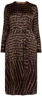Marina Rinaldi Printed Shirt Dress