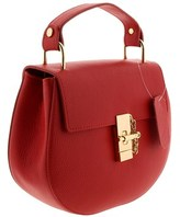 HS Collection Hs1151 Rs Circe Rosso Leather Top Handle/shoulder Bag.