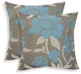 Essentials 2pk Rosemary Silken Jacquard Floral Throw Pillow
