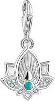 Thomas Sabo Charm Club sterling silver and cubic zirconia lotus flower charm
