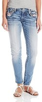 Miss Me Women's Wing Pocket Capri Jean
