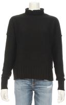 Autumn Cashmere Turtle Neck Reverse Seam Cashmere Sweater