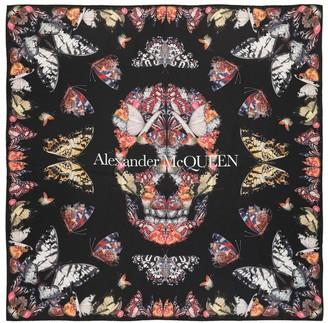 Alexander McQueen Butterfly Decay silk twill scarf