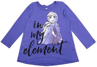 Children's Apparel Network Girls' Leggings PURPL - Purple Frozen 2 Long Sleeve Tee - Toddler