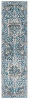 """Safavieh Vintage Persian Collection VTP474 Rug, Charcoal/Blue, 2'2"""" X"""