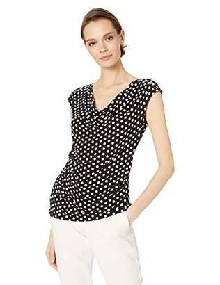 Calvin Klein Women's Drape Front Top with Stud