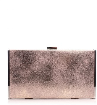 Moda In Pelle Classoclutch Rose Gold Fabric
