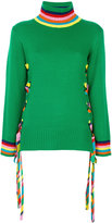 Mira Mikati rainbow lace up jumper