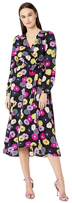 Kate Spade Winter Garden Midi Dress (Black) Women's Dress