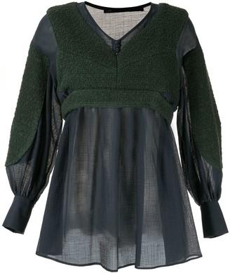 Muller of Yoshio Kubo Contrast Long-Sleeve Blouse