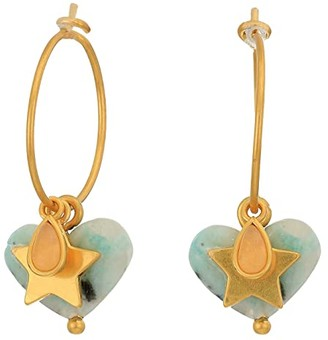 Madewell Moulded Acetate Heart Hoop Earrings Pack (Mother-of-Pearl Acetate) Earring