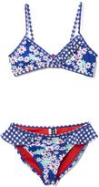 Vigoss Blue Mission Cute Ruffle Bikini - Girls