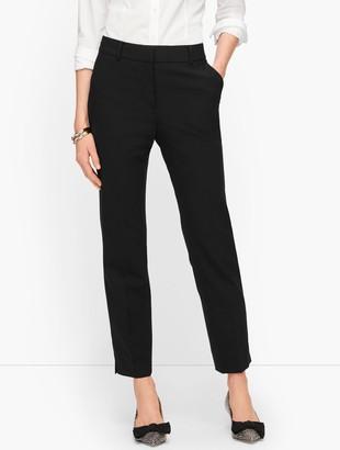 Talbots Luxe Wool Slim Ankle Pants - Black
