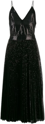 MSGM sequin pleated maxi dress