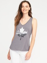 Old Navy EveryWear Leaf-Graphic Tank for Women