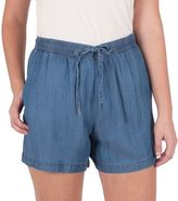 Larry Levine Women's Chambray Pull-On Shorts