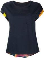 Short Sleeve Back Print Blouse