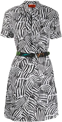 Missoni Zebra-Print Belted Dress