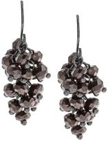 Kenneth Cole New! Purple CZ Dangle Earrings
