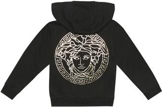 Versace Kids Logo cotton hoodie