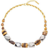 Steve Madden Multi-Faceted Tiger's Eye & Hematite Beads Necklace