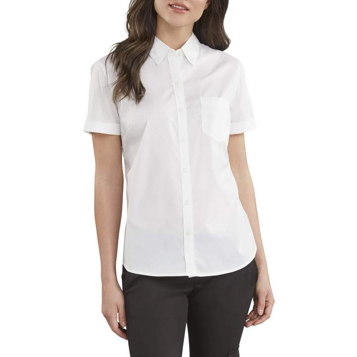 11e277b9c9d6 Women White Short Sleeved Buttoned Up Shirt - ShopStyle Canada