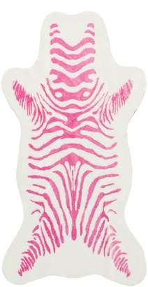 Donna Salyers'' Fabulous-Furs Donna Salyers Fabulous Furs Faux Fur Hide Small Zebra Rug - Pink