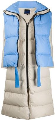 Sjyp convertible layered padded coat