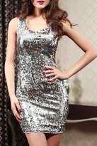 Adore Clothes & More Silver Sequin Dress