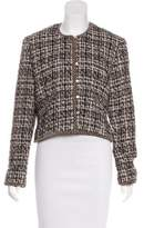 Neiman Marcus Mohair Button-Up Jacket
