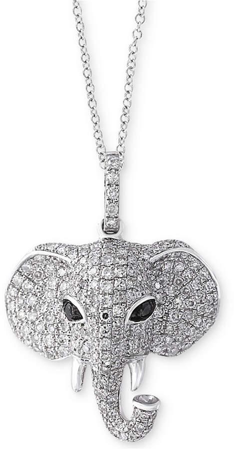 Effy Caviar by EFFYandreg; Diamond Elephant Pendant Necklace (3/4 ct. t.w.) in 14k White Gold