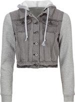 HIGHWAY Fleece Sleeve Womens Denim Jacket