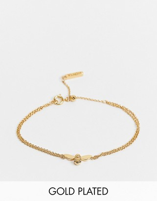 Olivia Burton Lucky Bee chain bracelet in gold plate