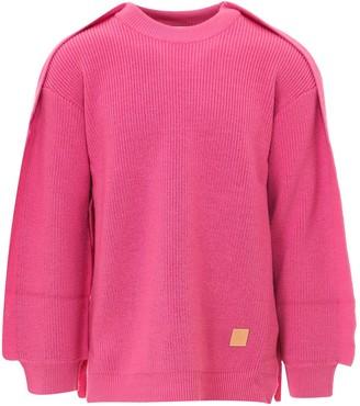 Ambush Crewneck Ribbed Knit Sweater