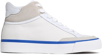 Rag & Bone Suede And Leather-trimmed Canvas Sneakers
