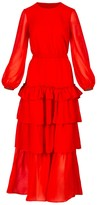 Long Dress Lady In Red